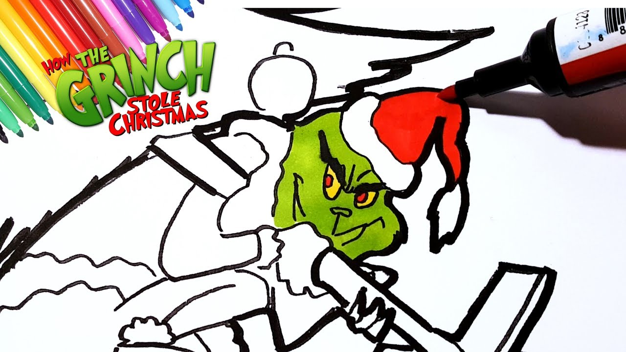 Christmas Coloring Videos With How The Grinch Stole Pages To Draw