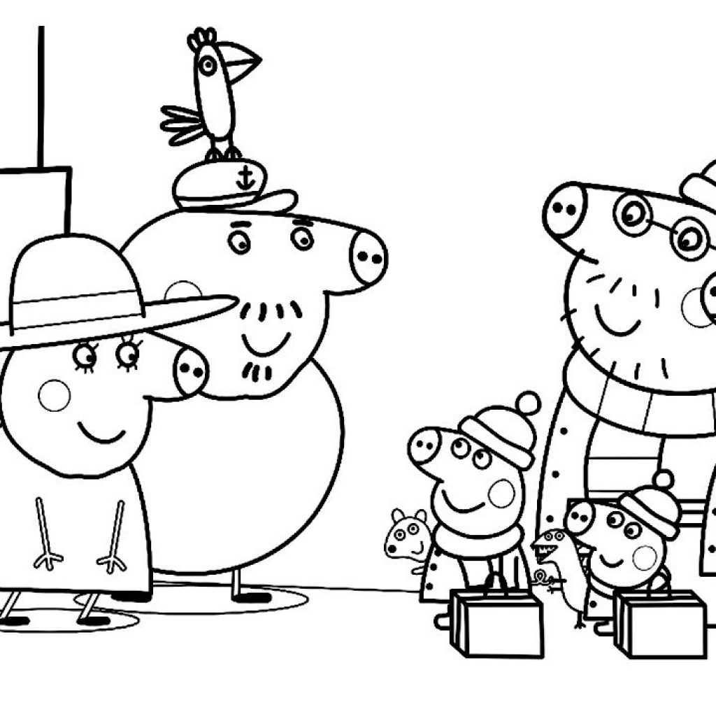 Christmas Coloring Videos With Peppa Pig Mummy Book Learning Drawing