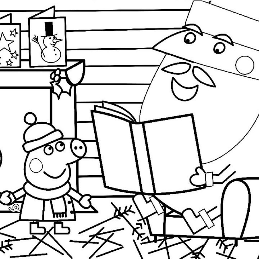 Christmas Coloring Videos With Peppa Pig Suzy Sheep Time Book