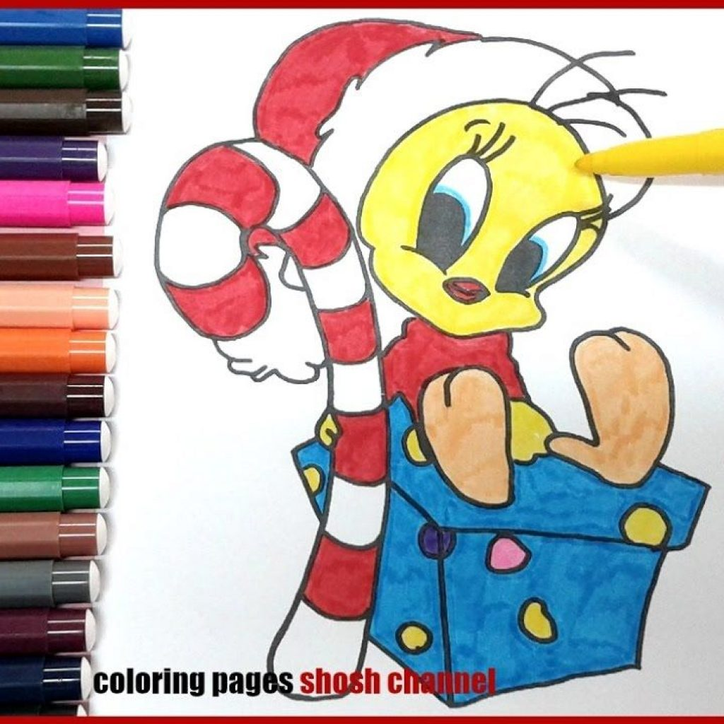 Christmas Coloring Videos With Tweety Bird Pages Video From