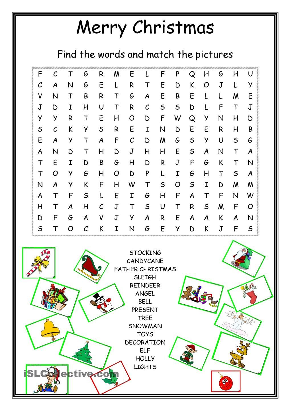 Christmas Coloring Word Search With Wordsearch School Pinterest English Worksheets And