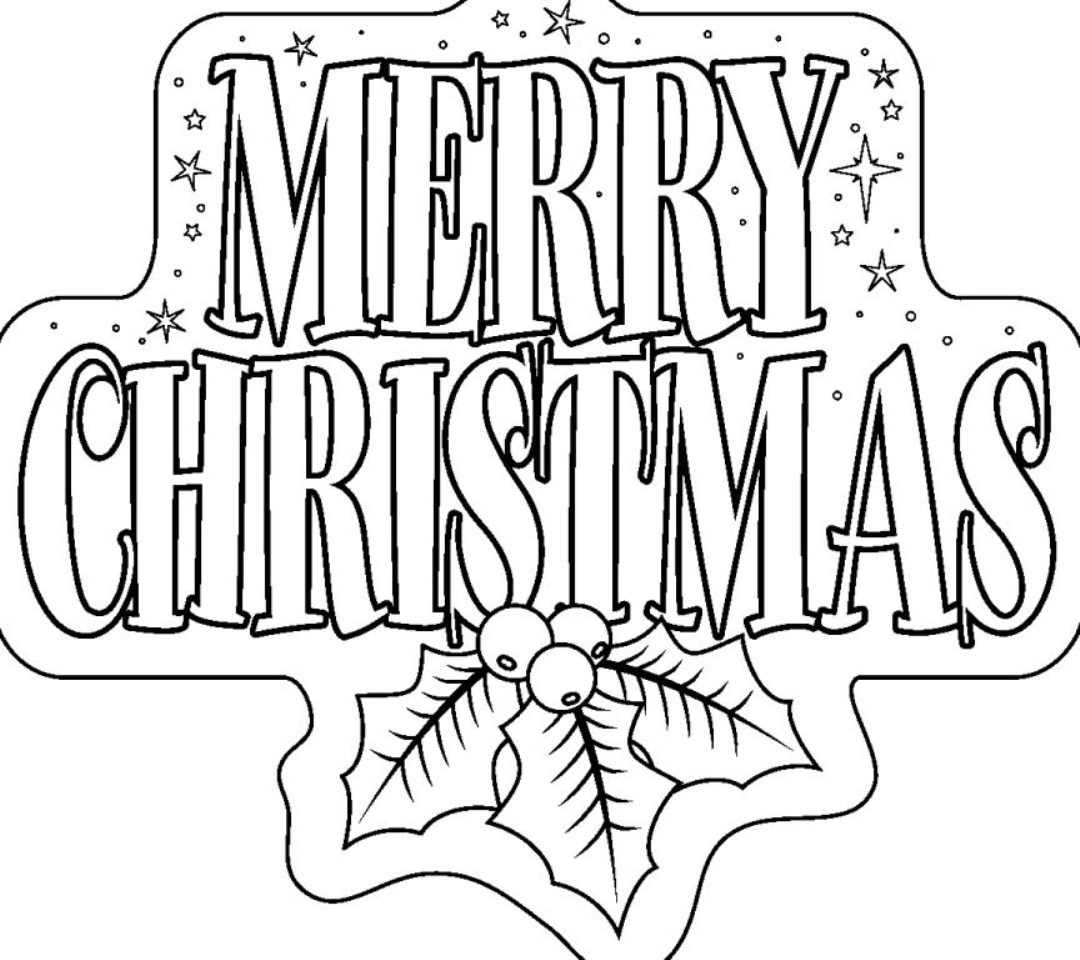 Christmas Coloring Words With Pages Thousand Of The Best Printable