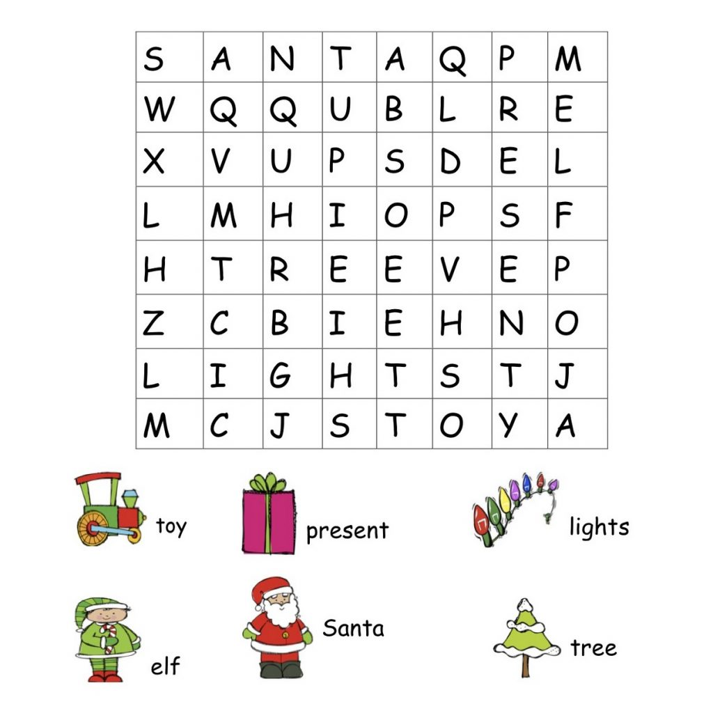 Christmas Coloring Words With Word Search Best Pages For Kids