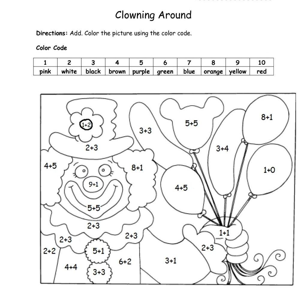 Christmas Coloring Worksheets For 1st Graders With Printable Math Pages Free Holiday