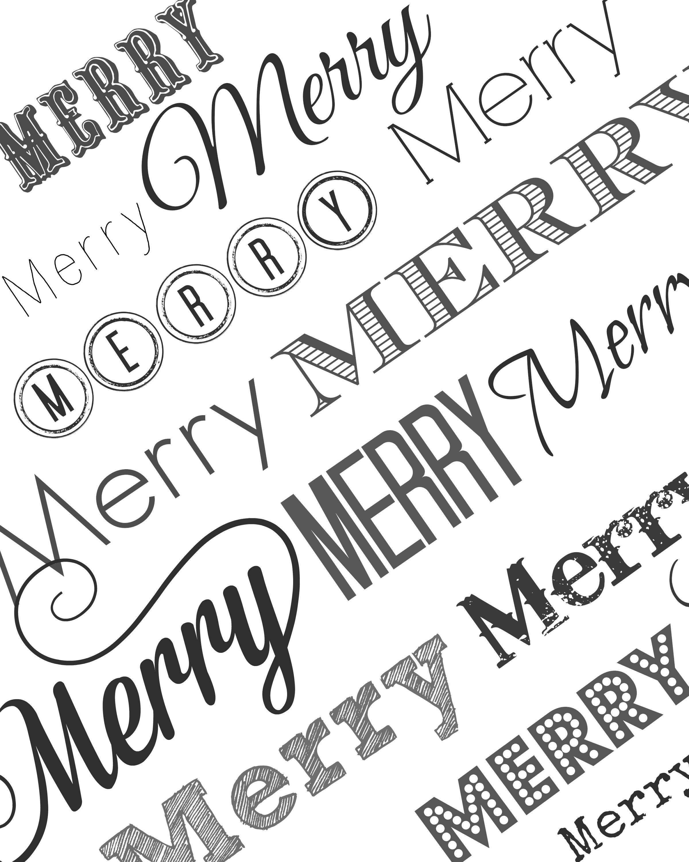 Christmas Coloring Wrapping Paper With Holiday Tags Merry Pages Printable