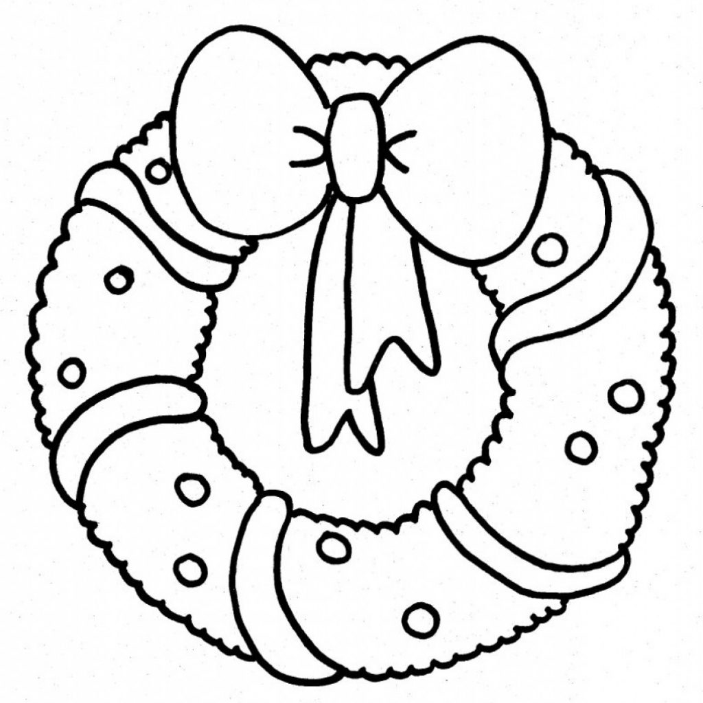Christmas Coloring Wreath With Pages ZU9X Wreaths Free