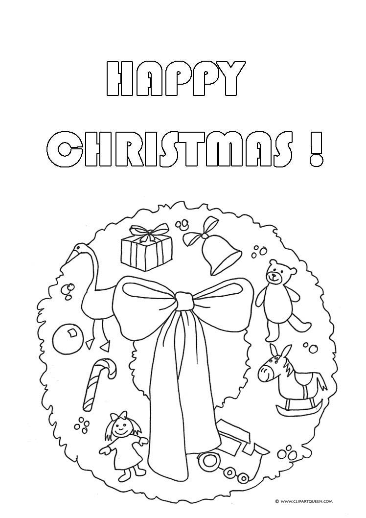 Christmas Coloring Wreath With Pages