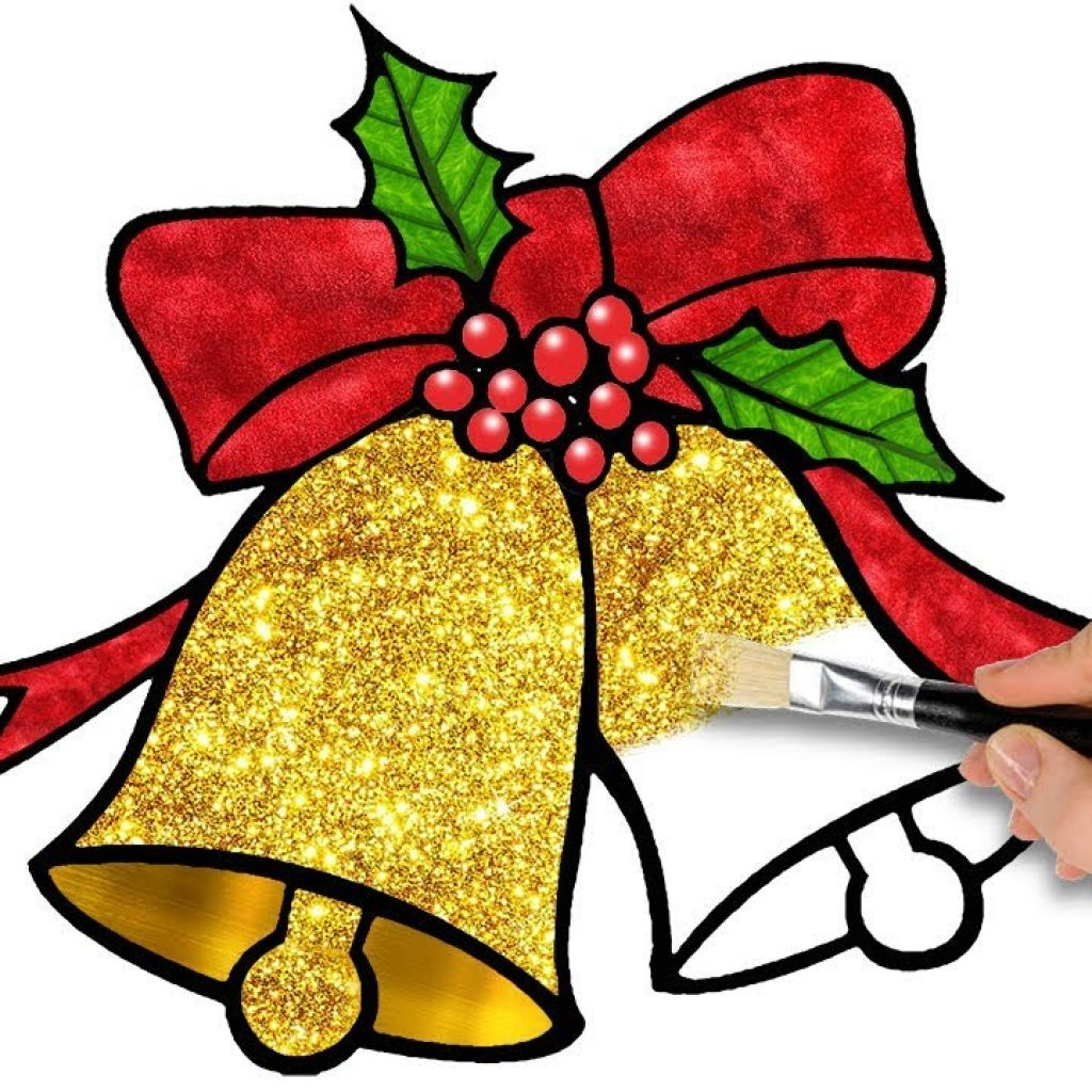 Christmas Coloring Youtube With Bell Pages Video For Kids YouTube Within Bells