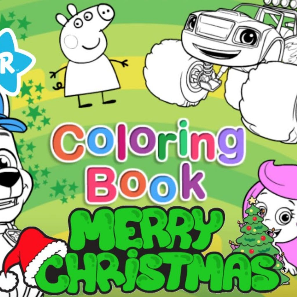 Christmas Coloring Youtube With Book NEW Nick Jr FULL GAME HD Episode YouTube