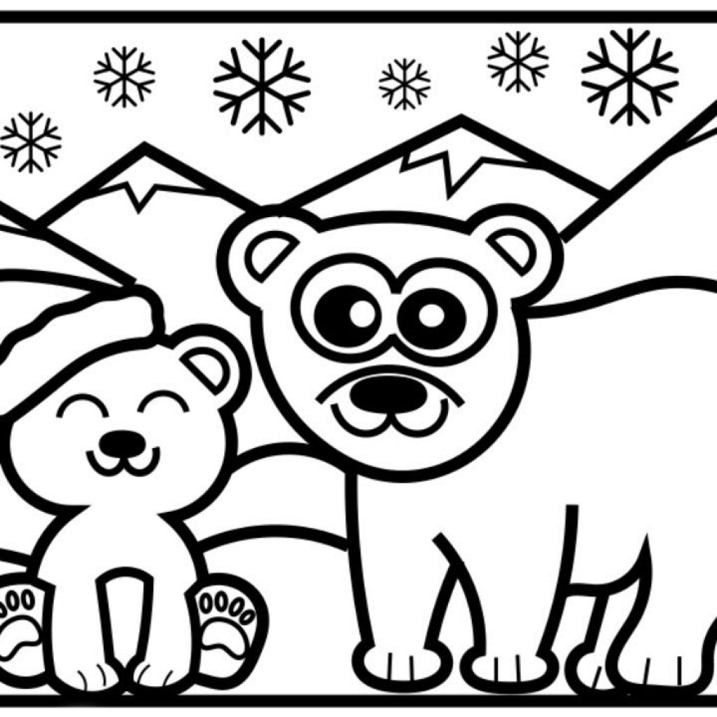 Christmas Coloring Youtube With CHRISTMAS COLORING How To Draw A Polar Bear Step By North