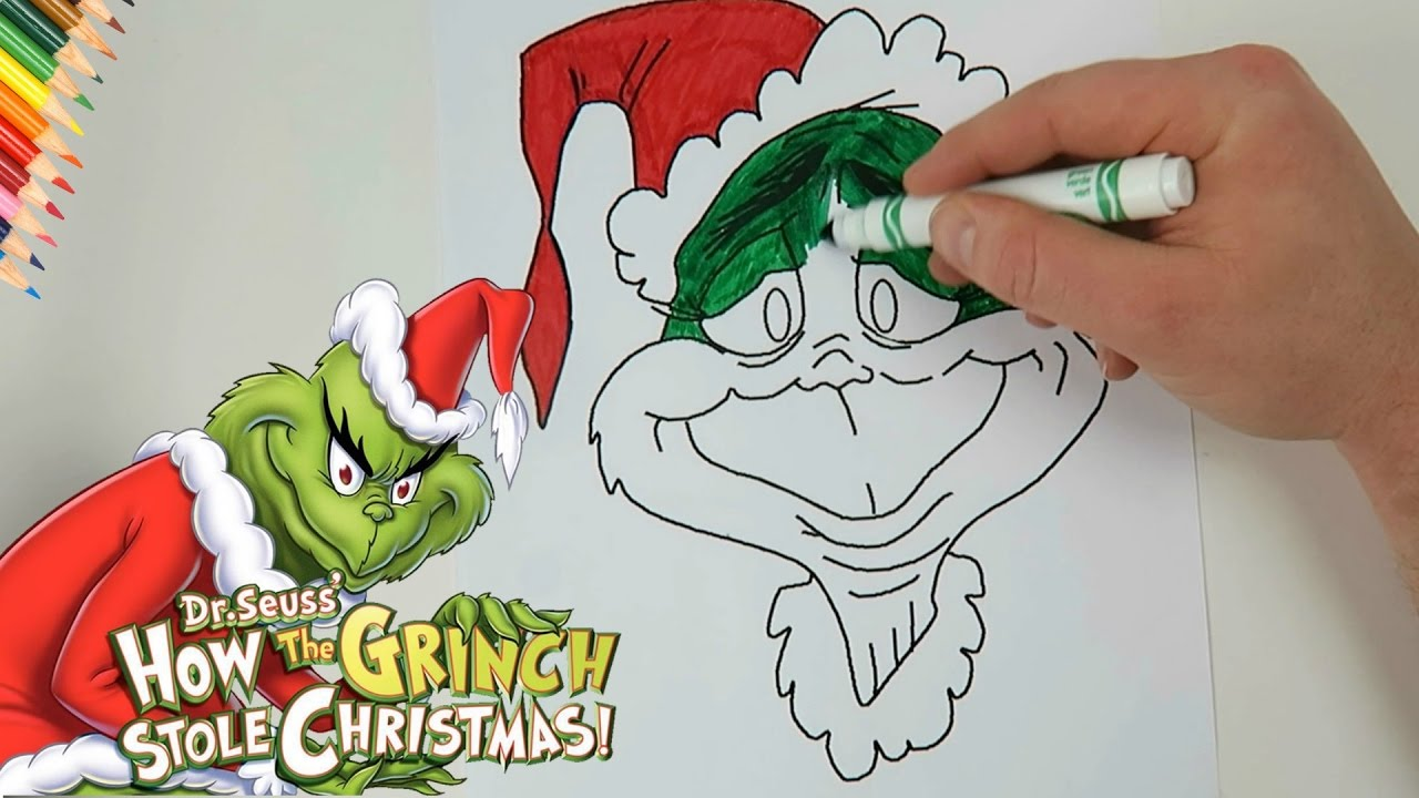 Christmas Coloring Youtube With How The Grinch Stole Page YouTube