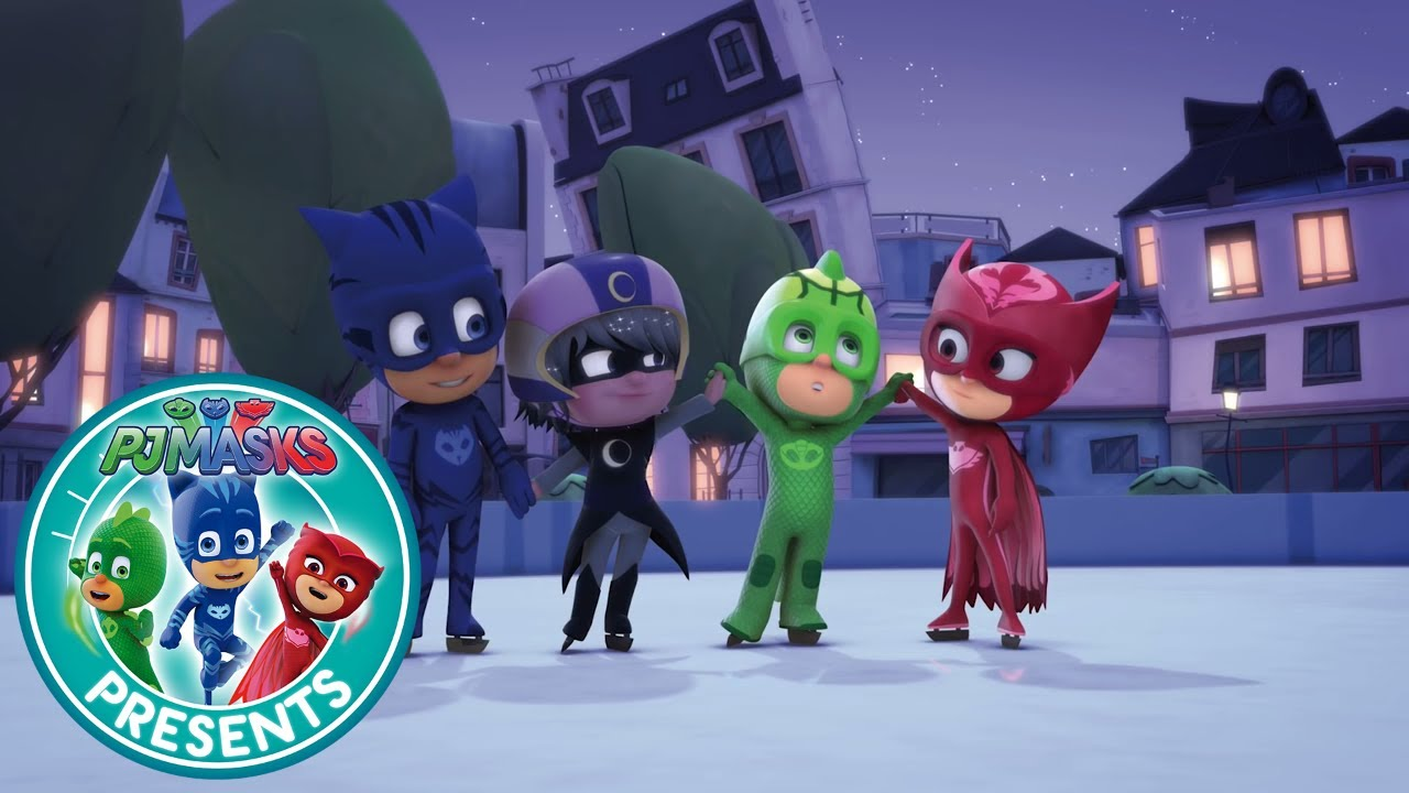 Christmas Coloring Youtube With PJ Masks Creations Gekko Saves Cartoons For
