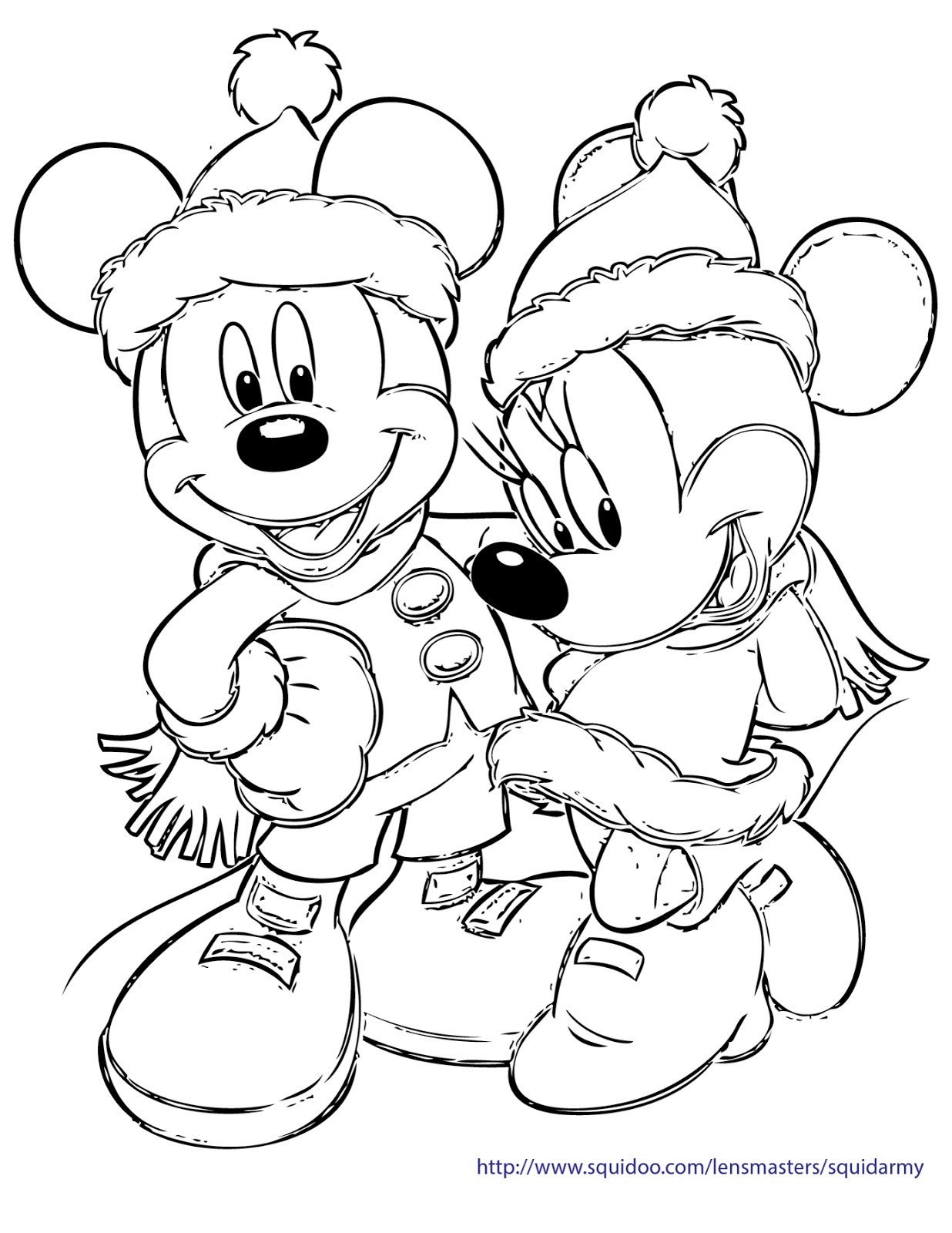 Christmas Colouring In Pages Pdf With Coloring Free Squid Army
