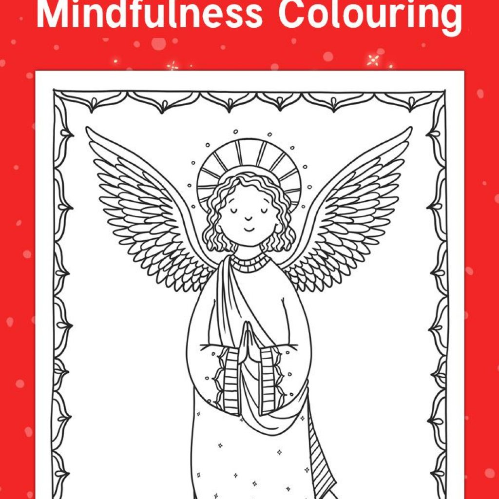 Christmas Colouring In Pages Twinkl With Nativity Mindfulness De Stress This