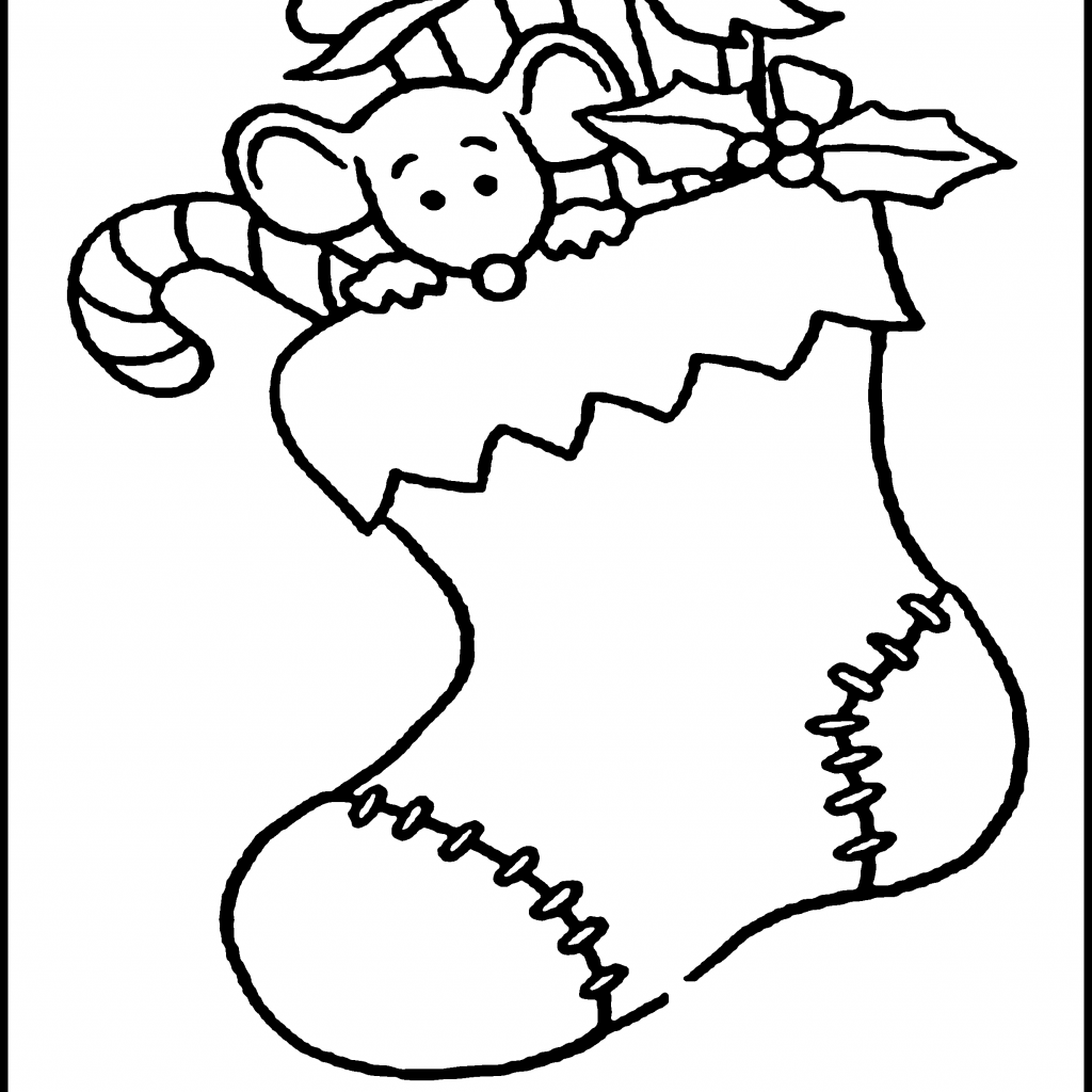Christmas Colouring Pages And Activities With Coloring For Kids Stocking Pinterest