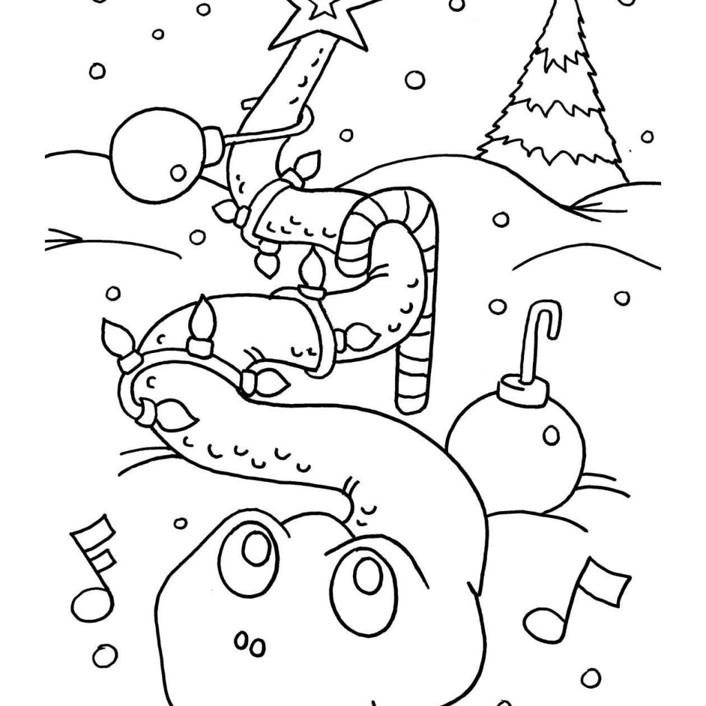 Christmas Colouring Pages And Puzzles With Featuring Sully The Singing Snake From S Topsy Tale