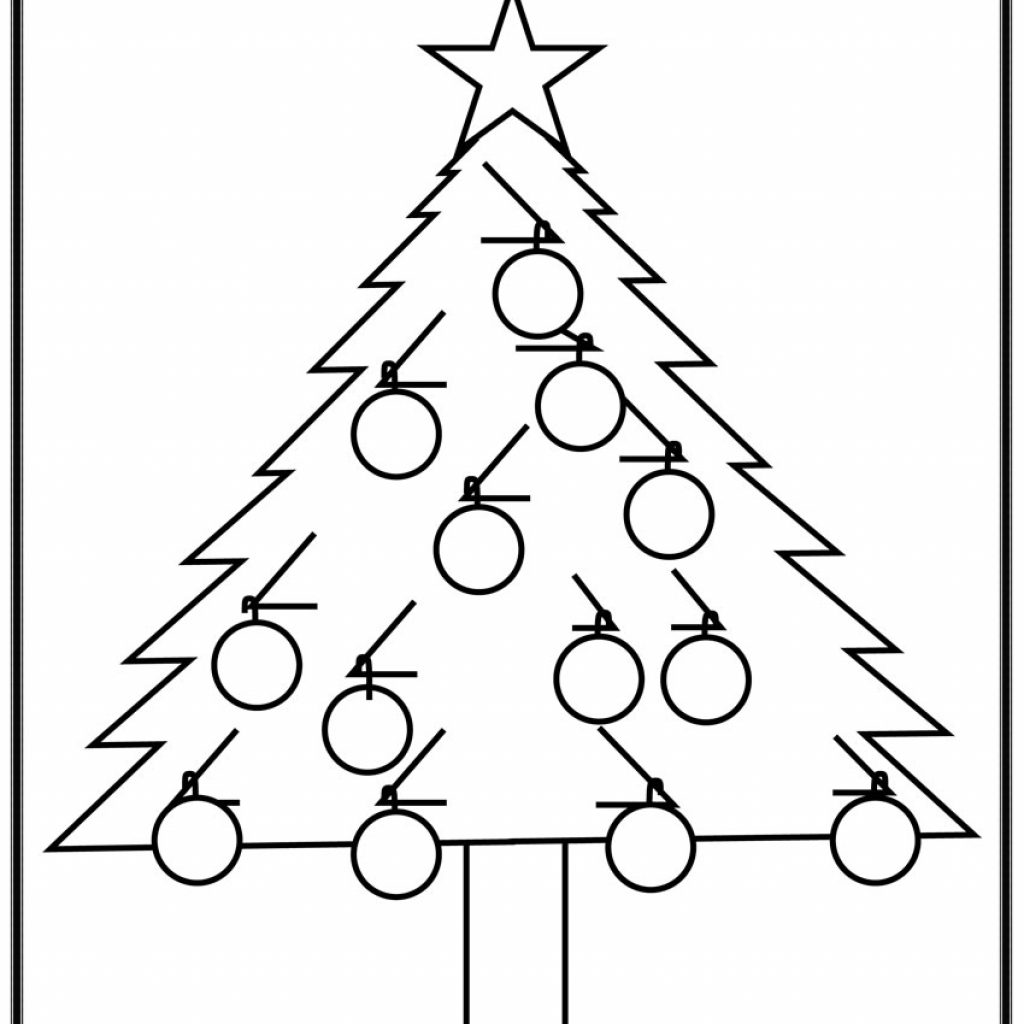 Christmas Colouring Pages And Puzzles With Simple Tree Coloring Page Printables For Kids Free