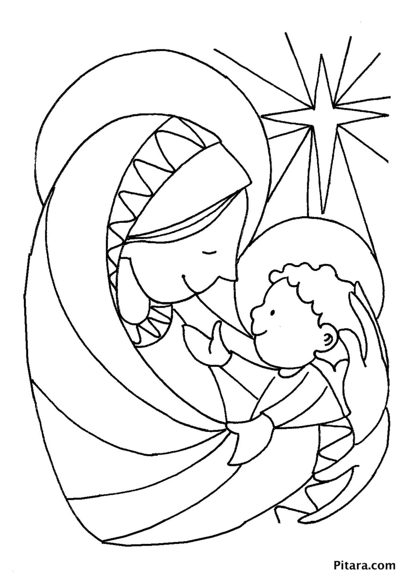 Christmas Colouring Pages Baby Jesus With Coloring