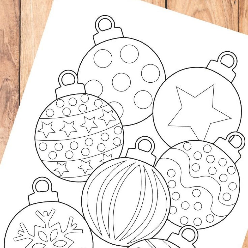 Christmas Colouring Pages Baubles With Bauble Coloring Page For Kids Learning Activities