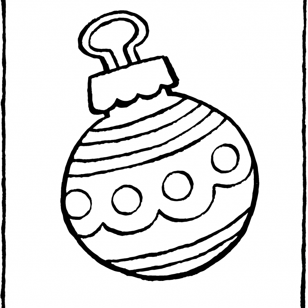 Christmas Colouring Pages Baubles With Bauble Kiddicolour