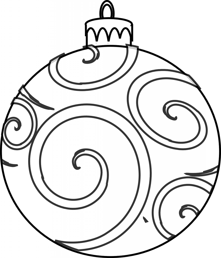Christmas Colouring Pages Baubles With Colour And Design Your Own Ornaments Printables In The
