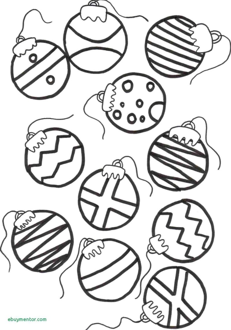Christmas Colouring Pages Baubles With Decorations Printable Coloring Page For Kids