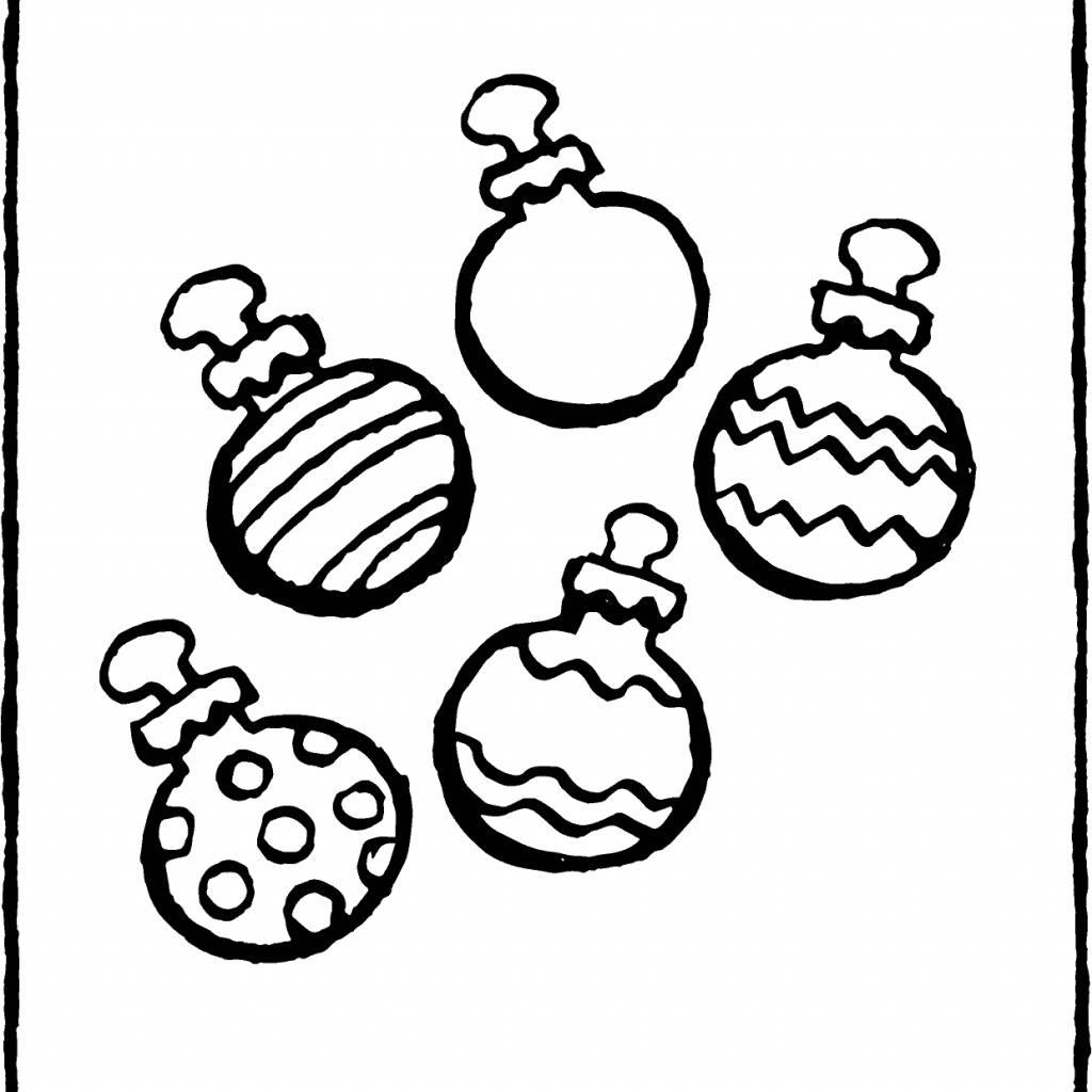Christmas Colouring Pages Baubles With Five Kiddicolour