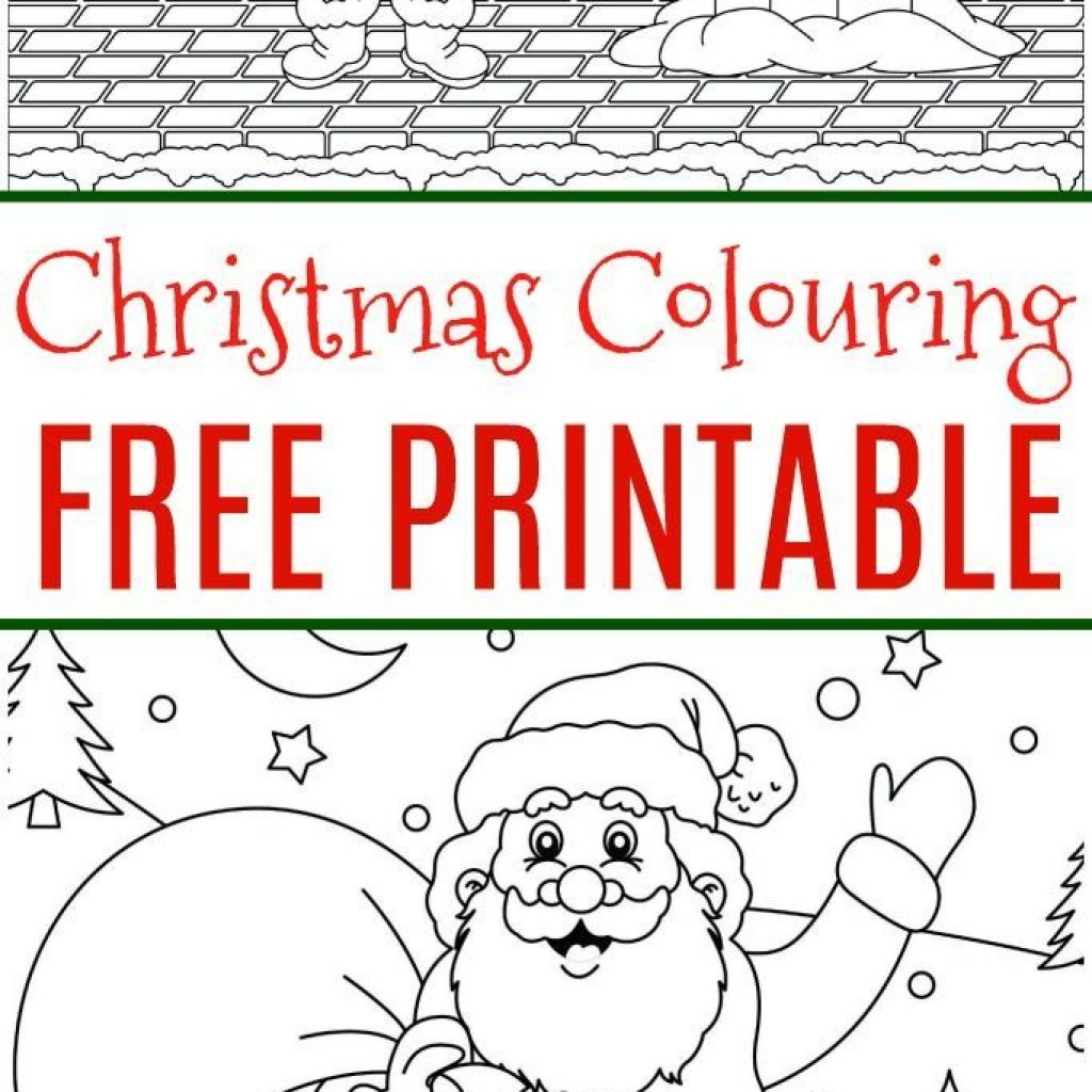 Christmas Colouring Pages Cute With Free Page Pinterest Kids Santa