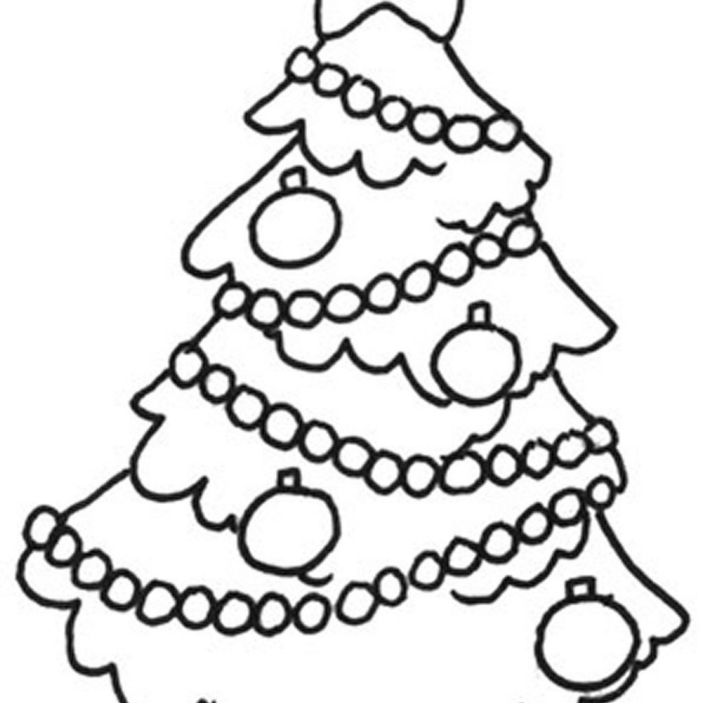 Christmas Colouring Pages Cute With Free Printable Pictures Of Trees Download Clip Art