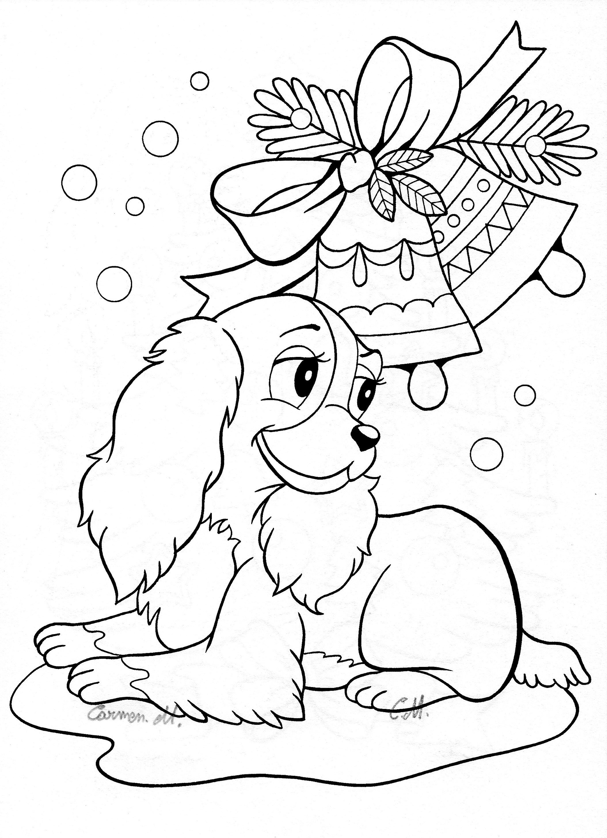 Christmas Colouring Pages Cute With New Coloring Printable Kids