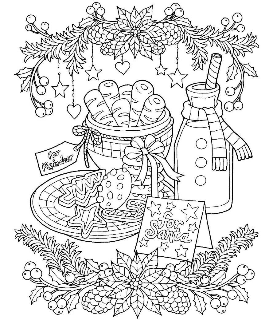 Christmas Colouring Pages Cute With Page Coloring To Print Time