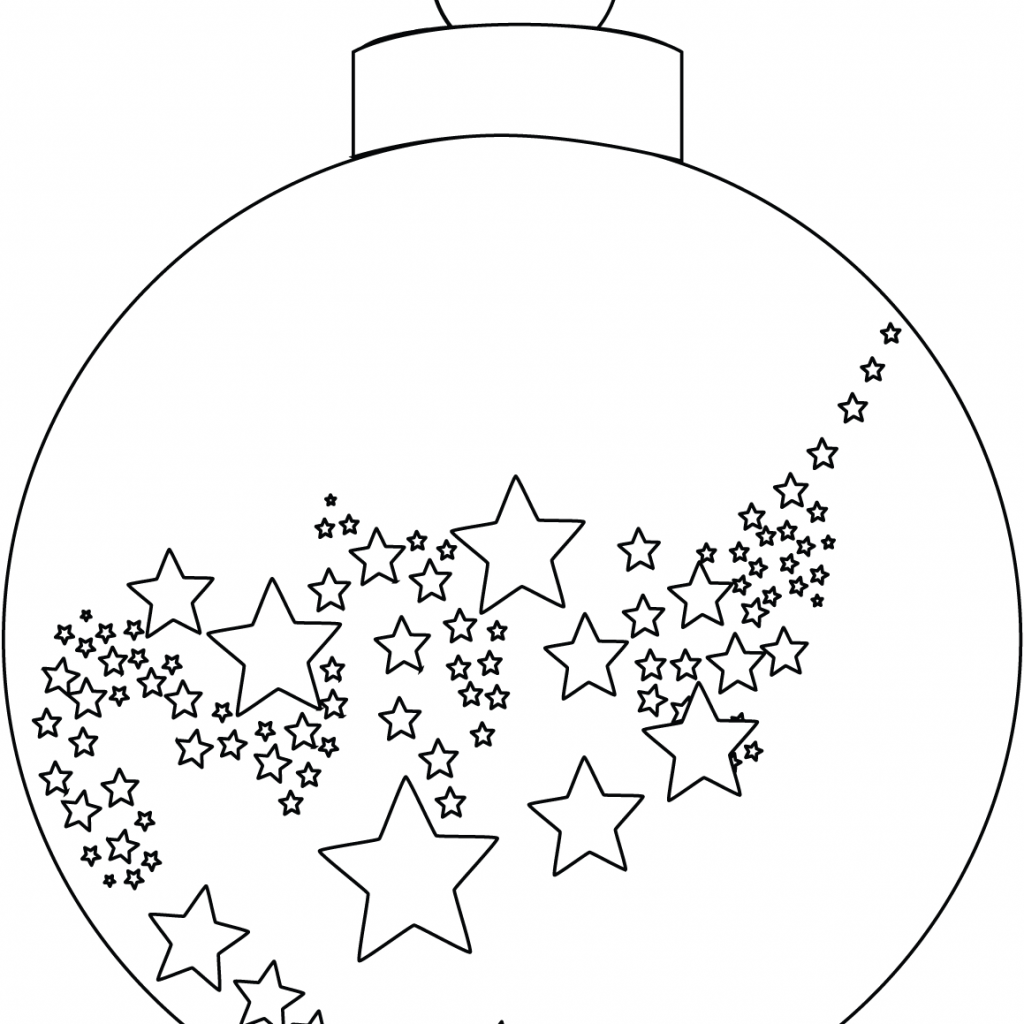 Christmas Colouring Pages Decorations With Ornament Coloring Page Free Printable