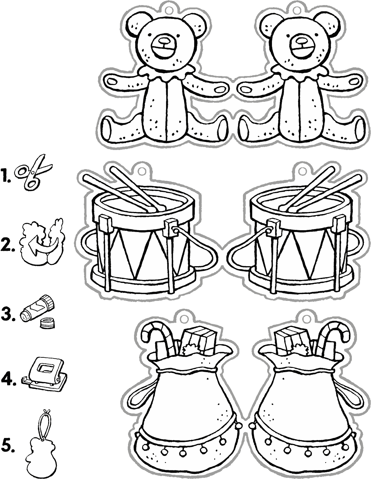 Christmas Colouring Pages Decorations With To Put In The Tree Kiddicolour