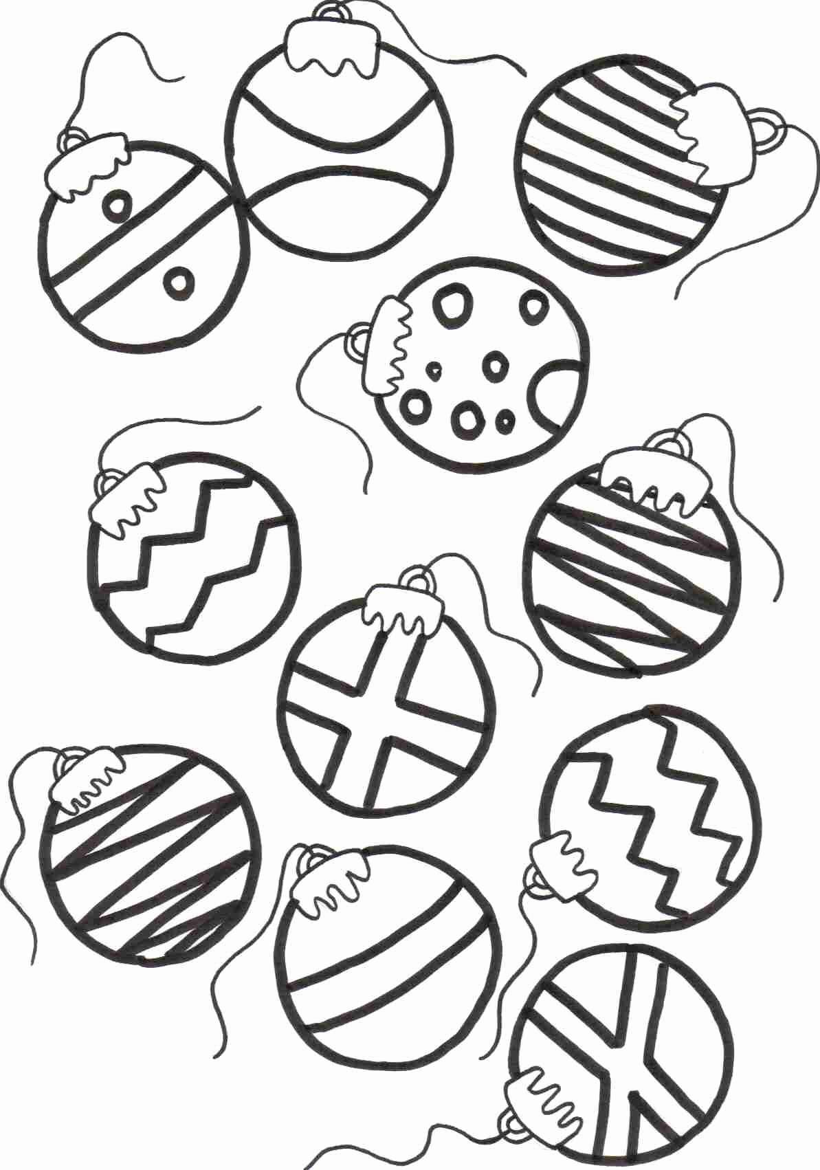 Christmas Colouring Pages Decorations With Tree Ornaments Archives Codraw Co Fresh