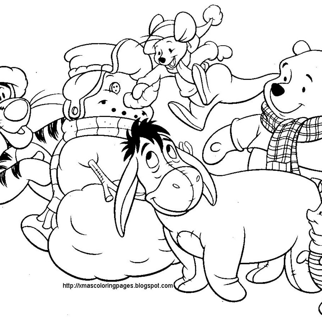 Christmas Colouring Pages Disney With Coloring Pinterest