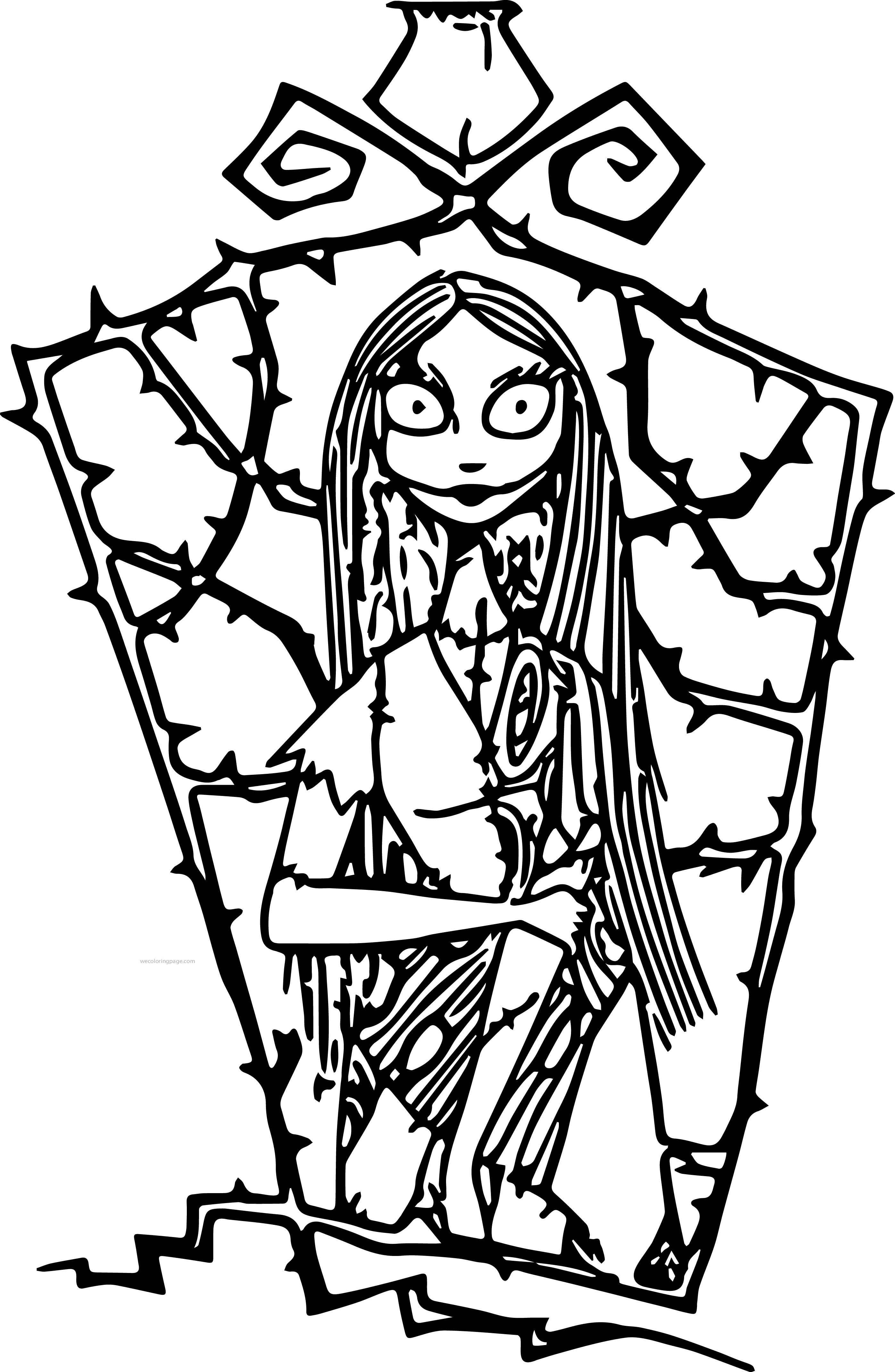 Christmas Colouring Pages Disney With The Nightmare Before Coloring