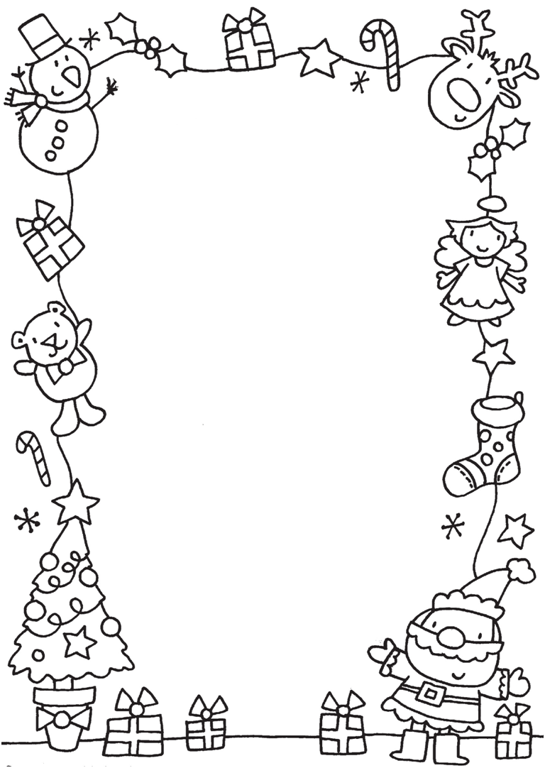 Christmas Colouring Pages Eyfs With Neat Border Frame To Color Other Styles In This Link J Ulud
