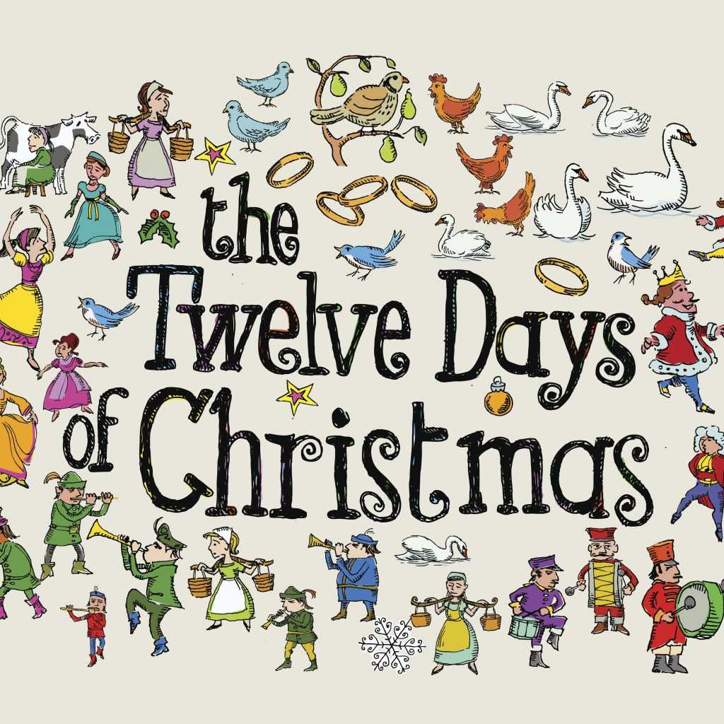 Christmas Colouring Pages Eyfs With Twelve Days Of Printables Wordsearch More