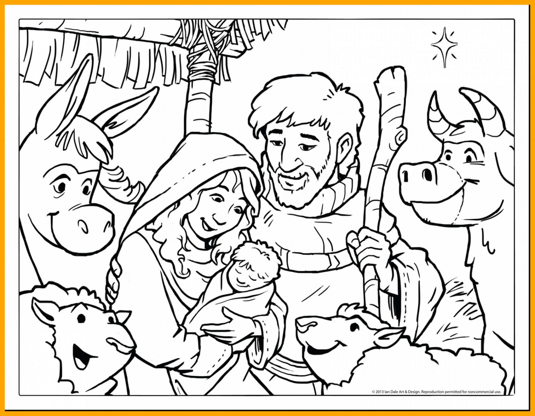 Christmas Colouring Pages For Babies With Religious Coloring Jesus Free