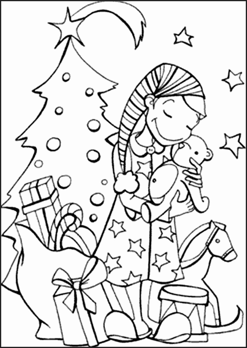 Christmas Colouring Pages For Free With Coloring Printable Alic E Me