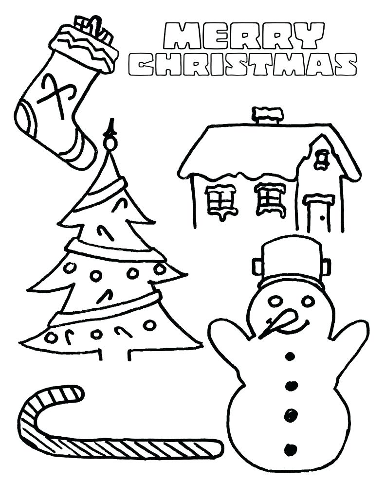 Christmas Colouring Pages For Kindergarten With Holiday Coloring
