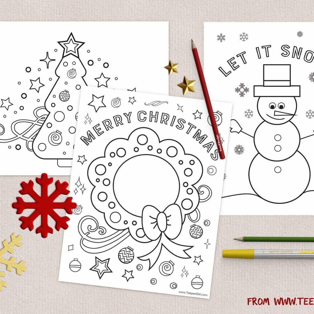 Christmas Colouring Pages For School With Free Coloring Www TeepeeGirl Com