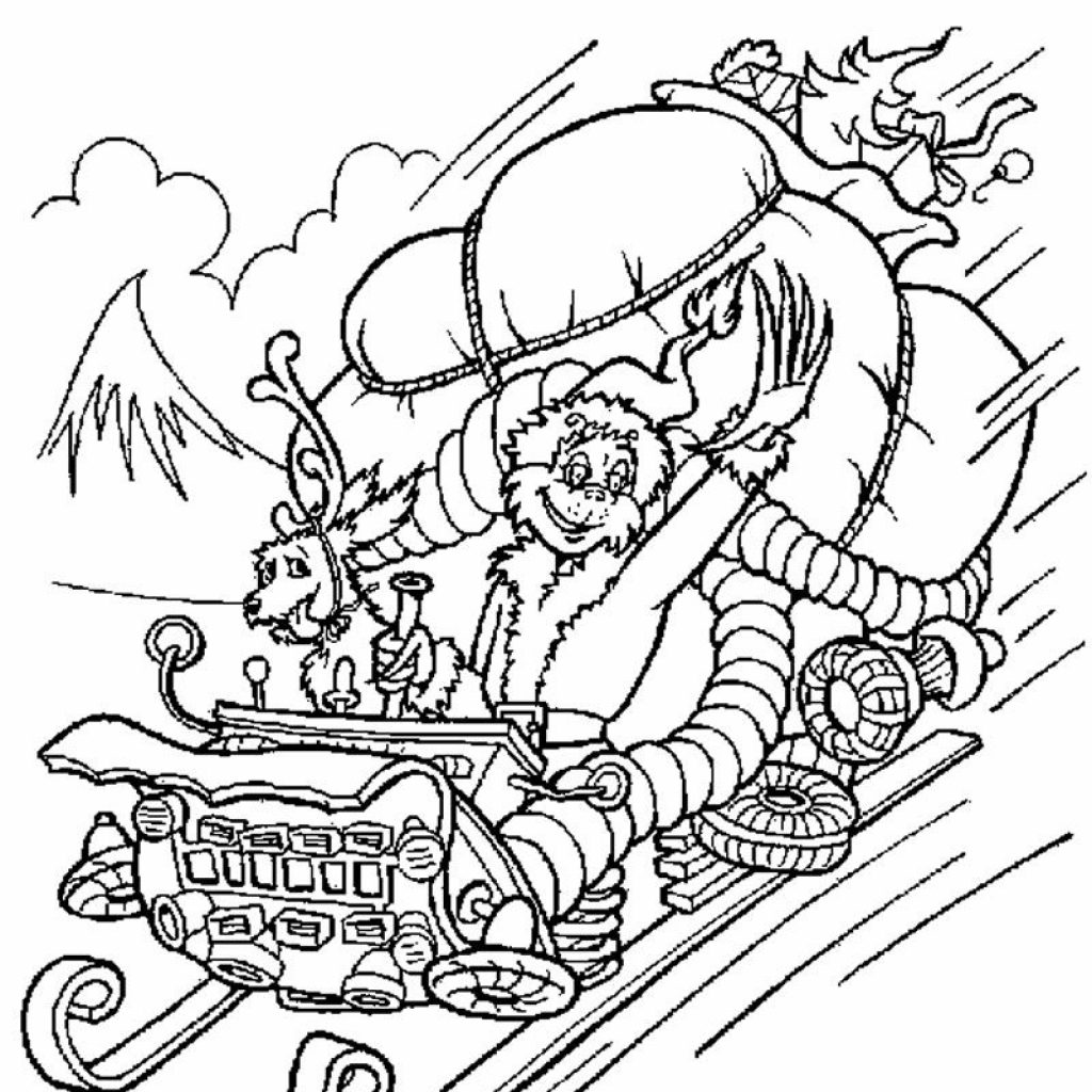 Christmas Colouring Pages Grinch With HOW THE GRINCH STOLE CHRISTMAS Coloring Free Printables To