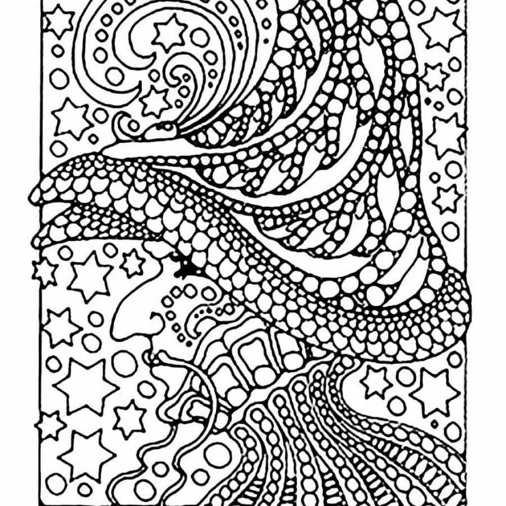 Christmas Colouring Pages Hard With Free Printable Coloring