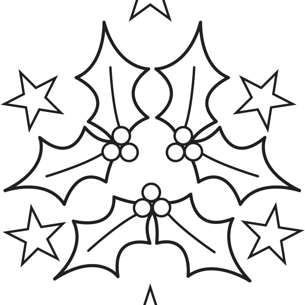 Christmas Colouring Pages Holly With Coloring The Big And Puzzle Book