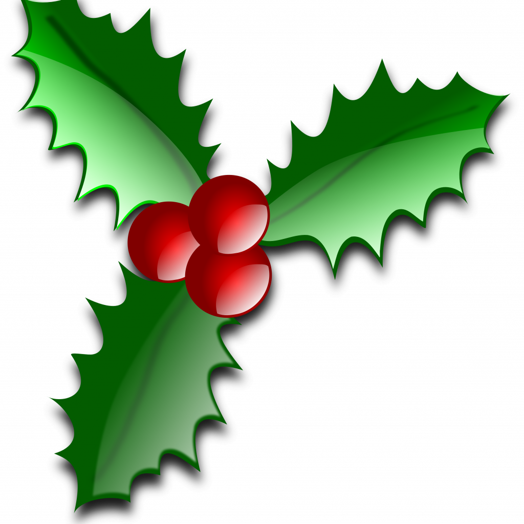 Christmas Colouring Pages Holly With Free Pictures Download Clip Art