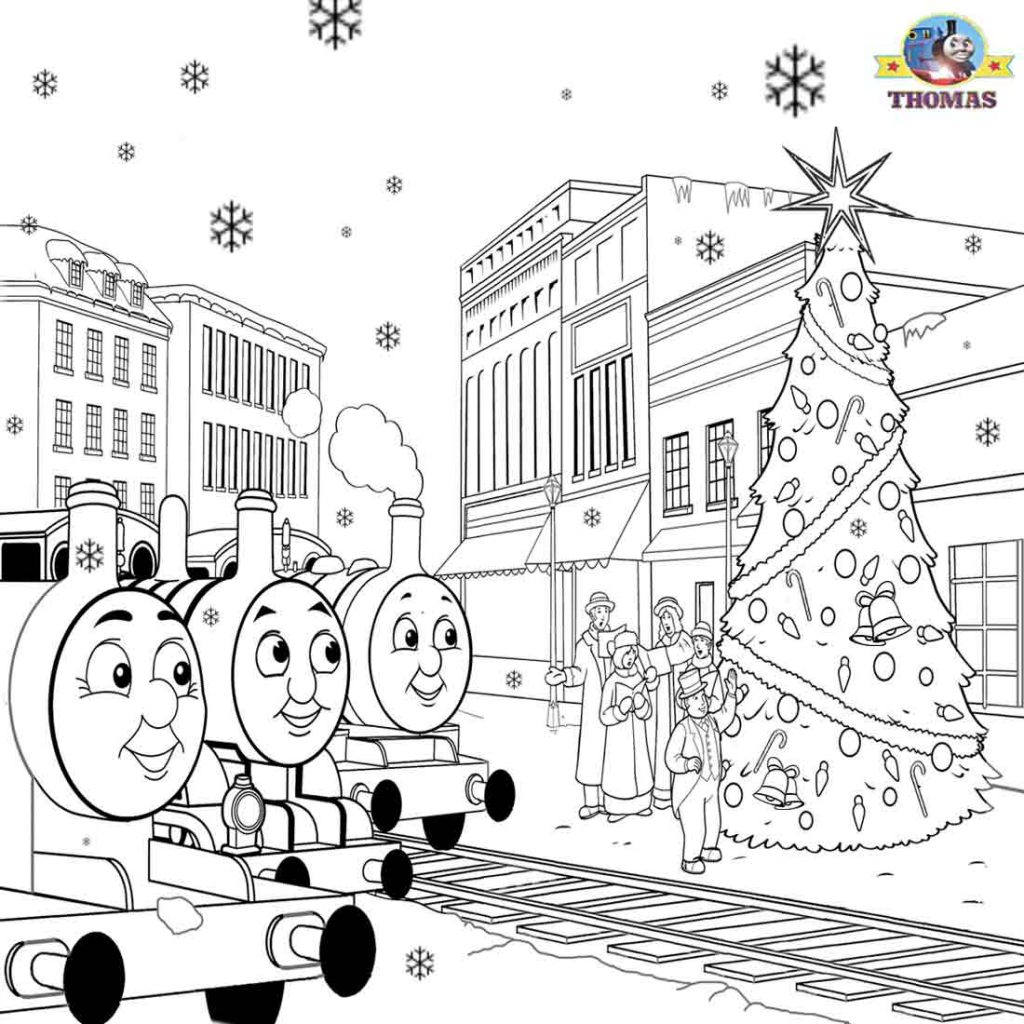 Christmas Colouring Pages Kindergarten With Thomas Coloring Sheets For Children Printable Pictures