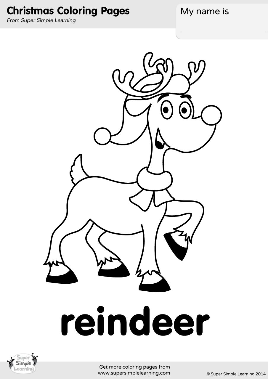 Christmas Colouring Pages Ks1 With Coloring Resource Type Super Simple