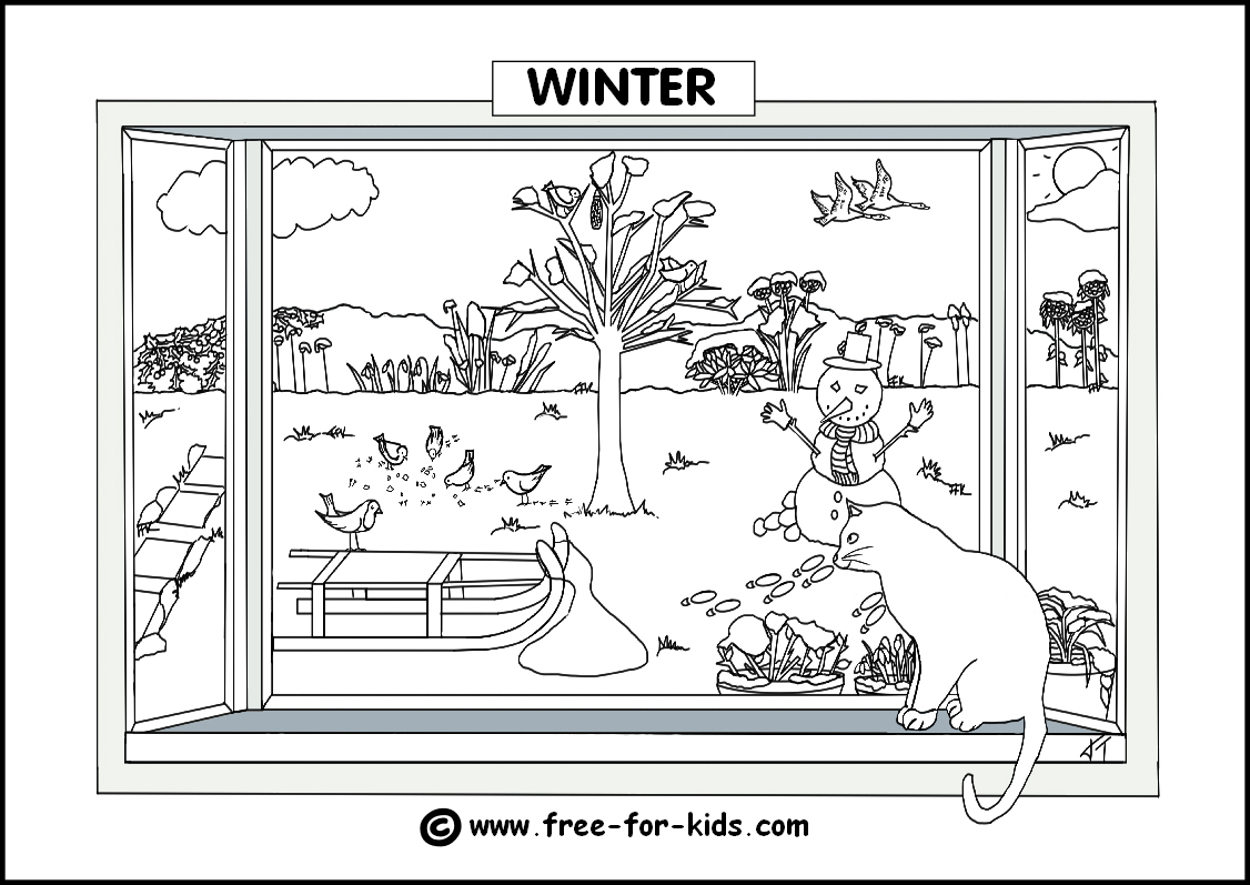 Christmas Colouring Pages Ks1 With Seasons