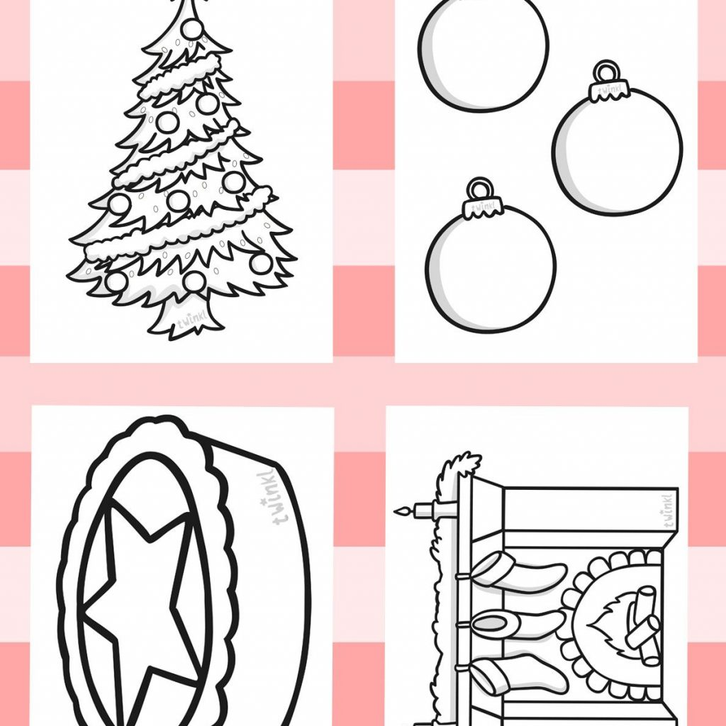 Christmas Colouring Pages Ks1 With Twinkl Resources Sheets Printable